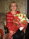Pastel bouquet of roses with seasonal flowers and Local Champagne to Ukraine