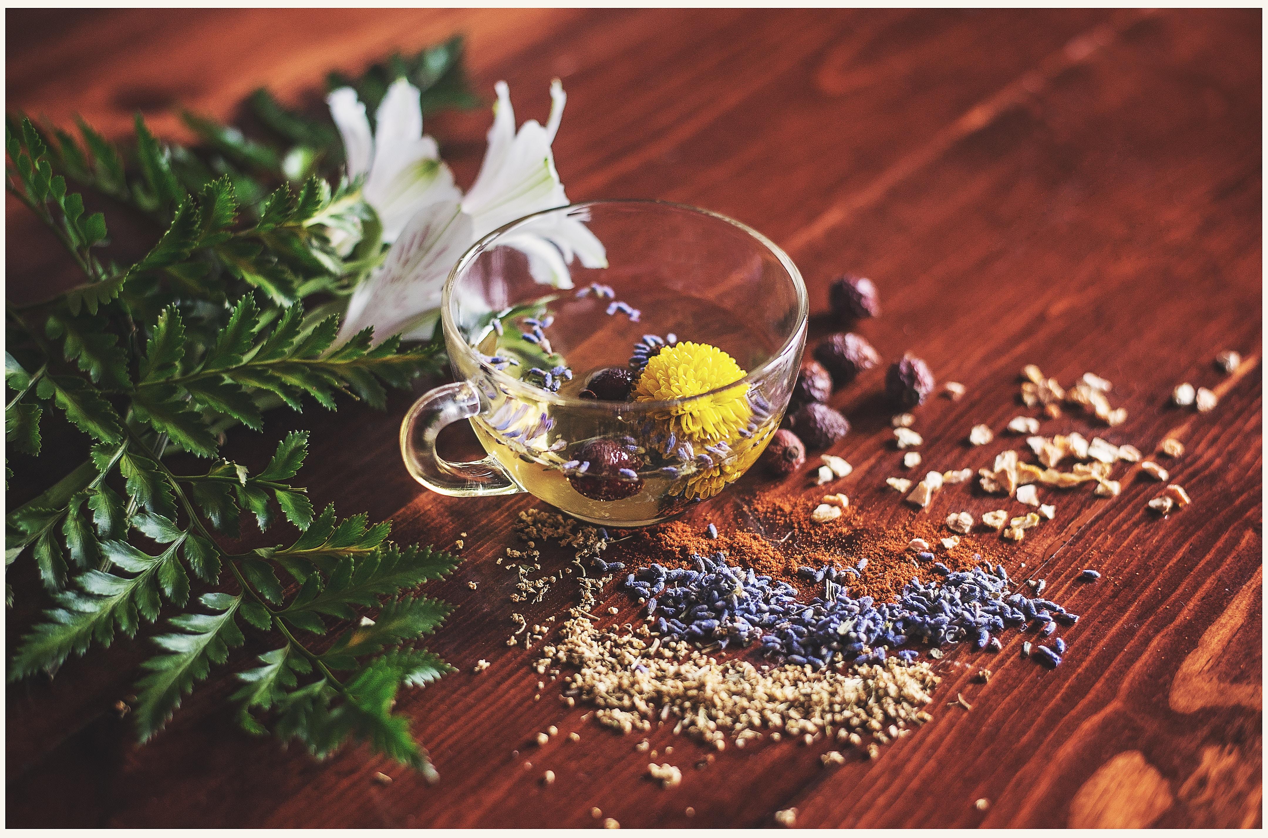 Healthy Herbal Teas with Edible Flowers