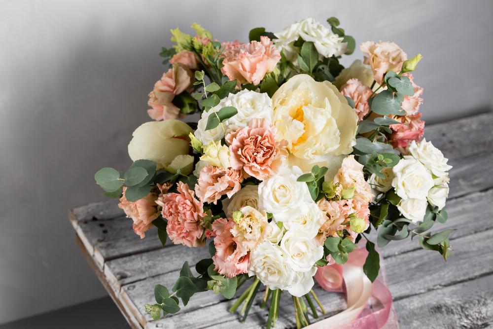 January Birth Flower - rustic carnation bouquet