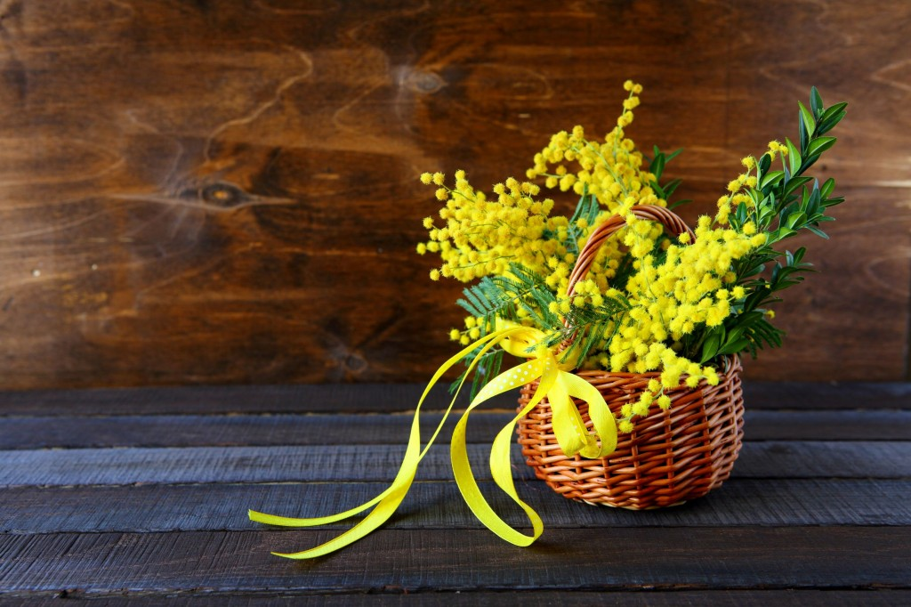 Golden Wattle Basket